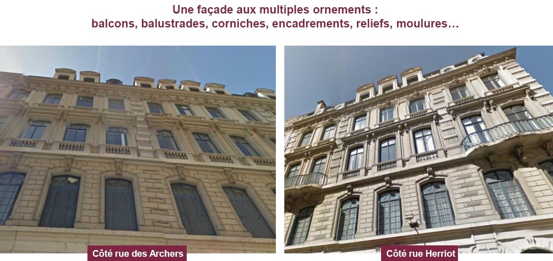 Vue sur façade Lyon